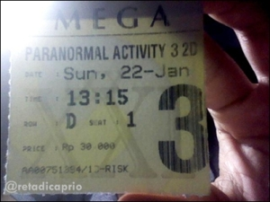 Ticket of Paranormal Activity 3
