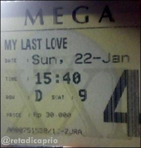 Ticket of My Last Love