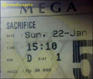 Ticket of Sacrifice 2012
