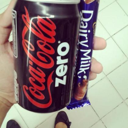 Cocacola zero and Cadbury